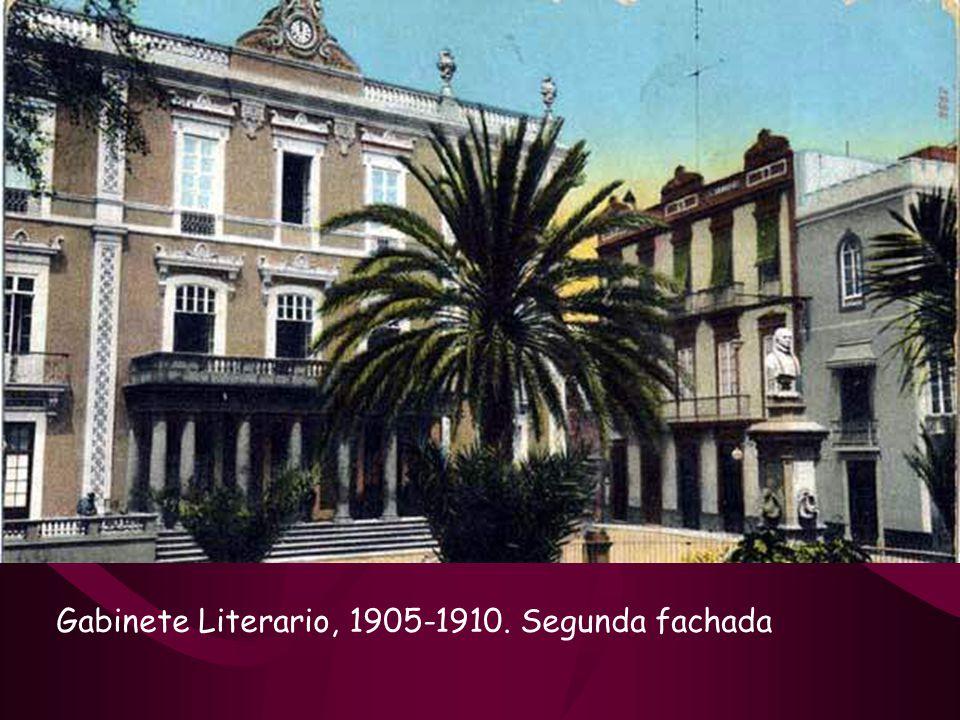 El Gabinete Literario, no fue en principio como lo contemplamos hoy, en el edificio primitivo se realizaron reformas que lo configuró como se ve en la actualidad.