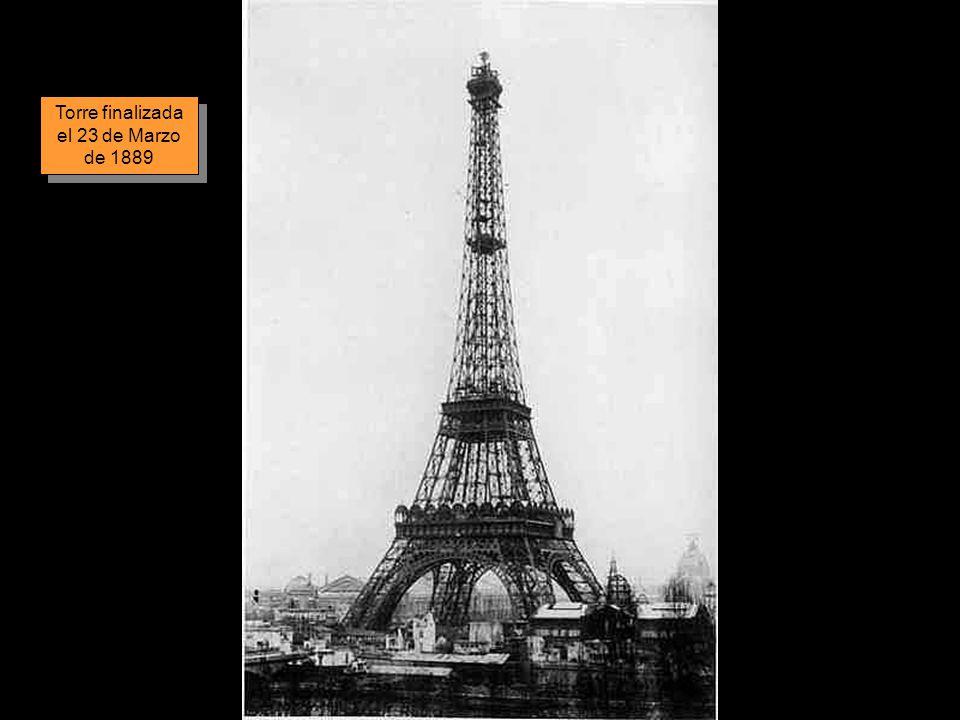 Torre finalizada el 23 de Marzo de 1889