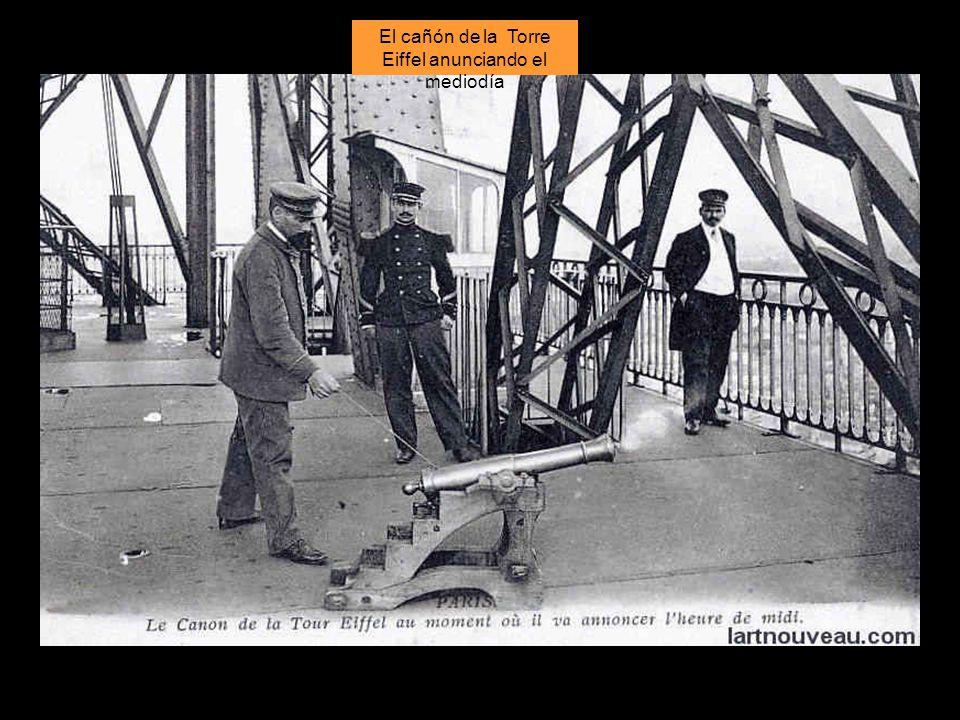 El cañón de la Torre Eiffel anunciando el mediodía