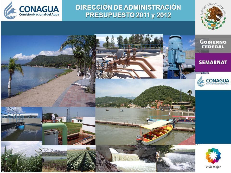 DIRECCIÓN DE ADMINISTRACIÓN PRESUPUESTO 2011 y 2012 1