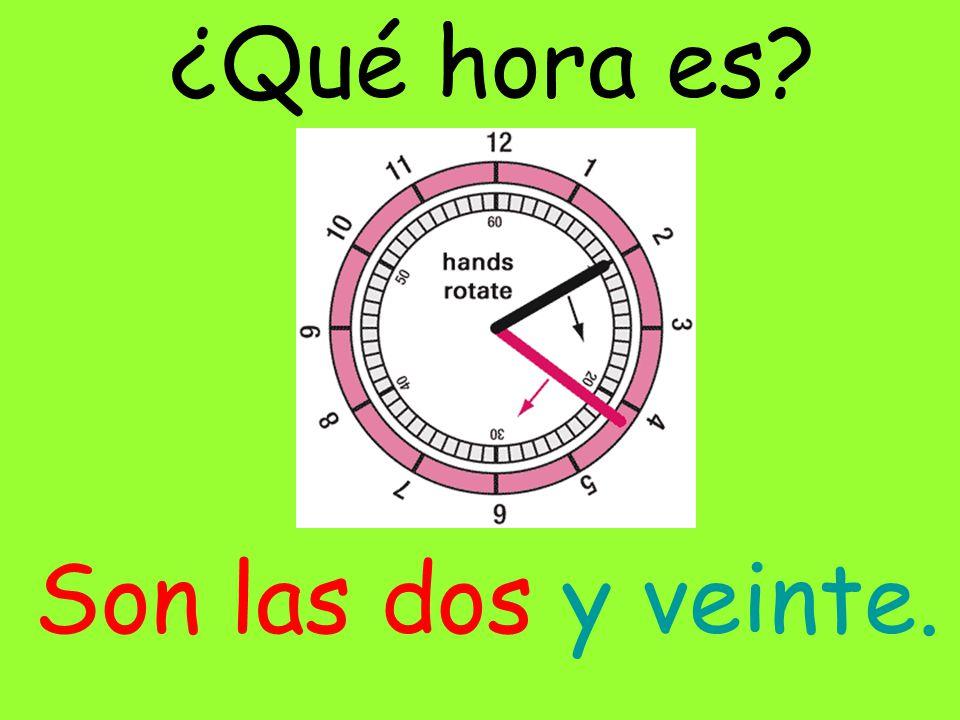 ¿Qué hora es? Son las doce y ocho.