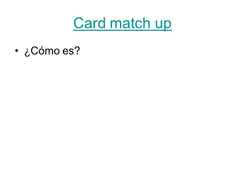Card match up ¿Cómo es?