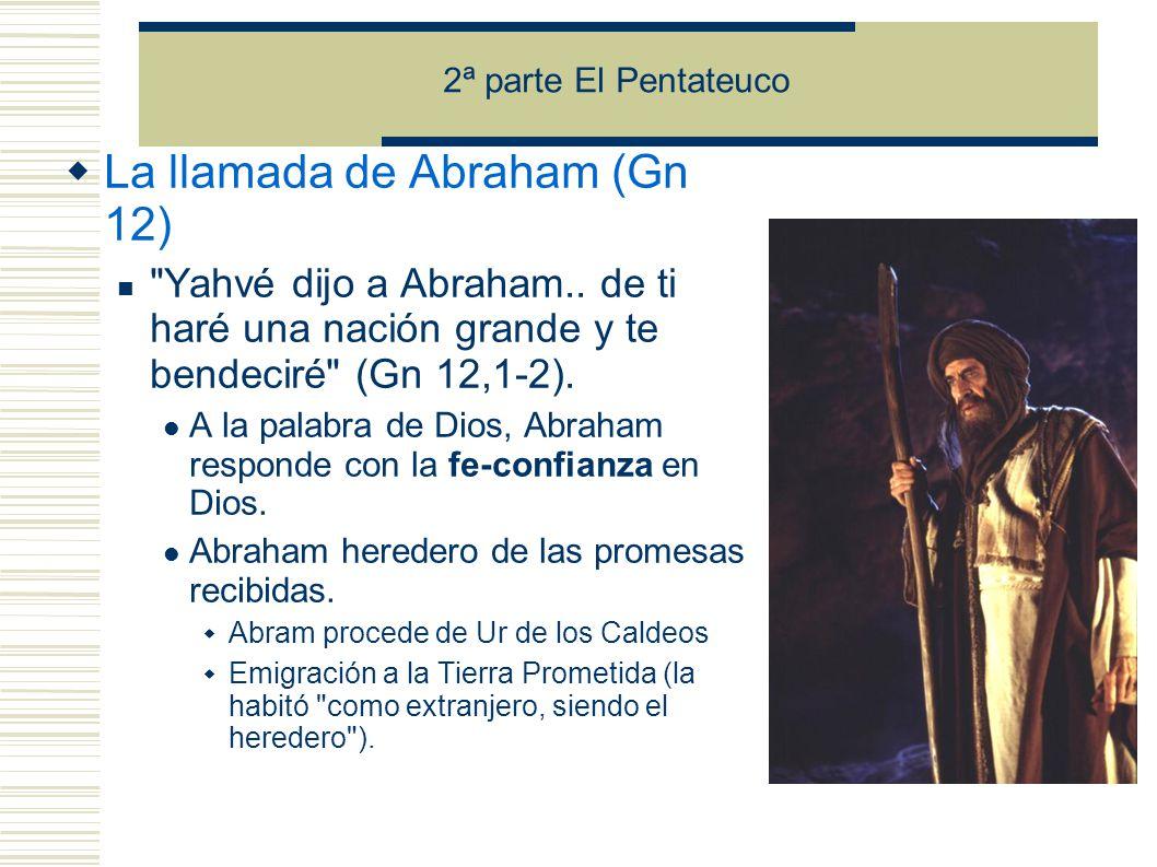 La llamada de Abraham (Gn 12) Yahvé dijo a Abraham..