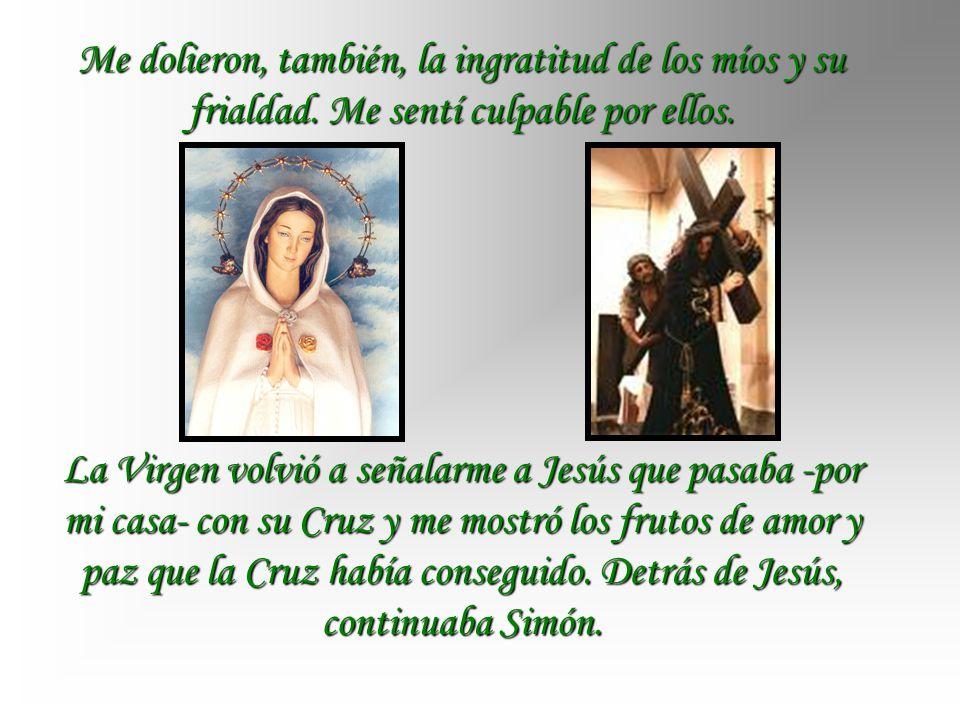 Camino a casa, la Virgen me mostró que, junto a otras situaciones que me generaban angustia y dolor estaba Jesús acompañado por su Cruz y por Simón. A