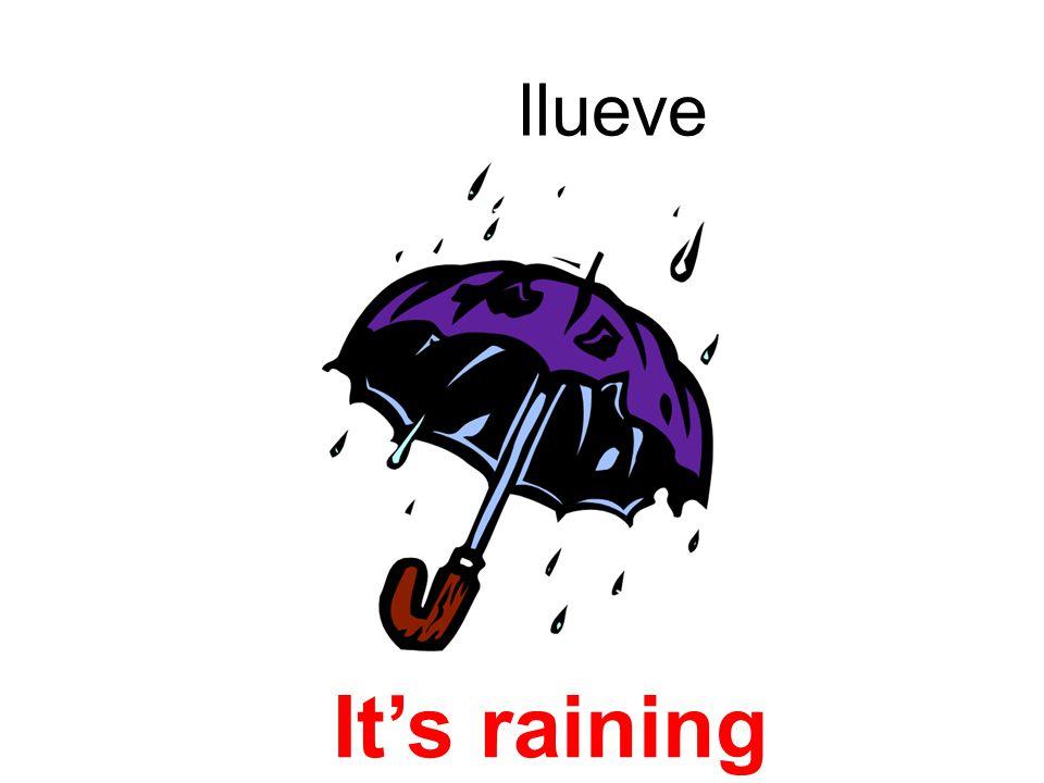 llueve Its raining