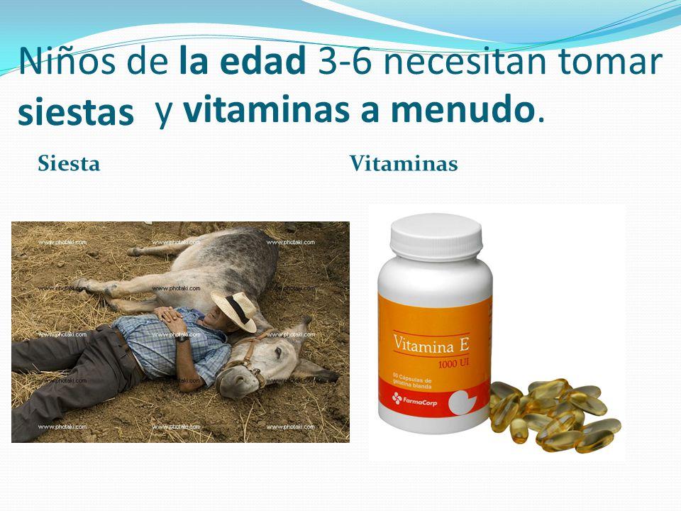 Niños de la edad 3-6 necesitan tomar siestas Siesta Vitaminas y vitaminas a menudo.