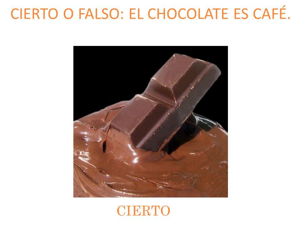 CIERTO O FALSO: EL CHOCOLATE ES CAFÉ. CIERTO