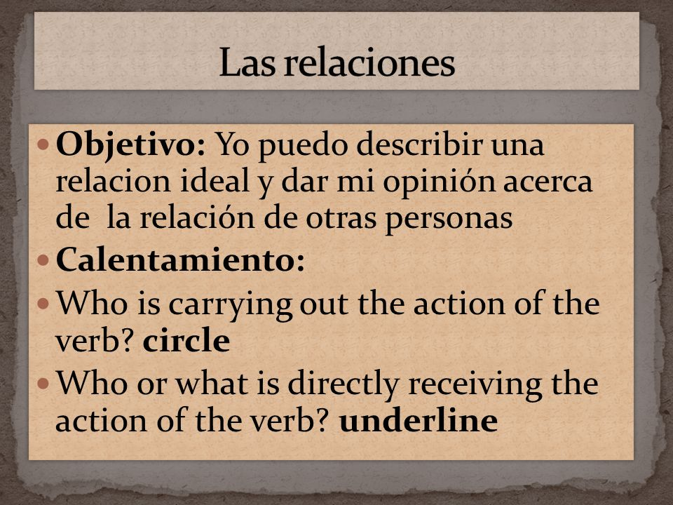 A direct object answers who or what after a verb.Comprendo la pregunta.