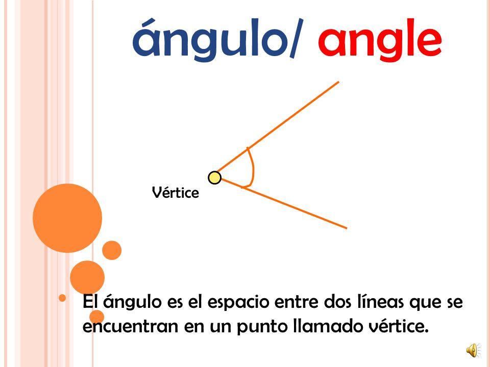 recta/línea/ line La línea recta es un grupo infinito de puntos que tienen una sóla dimensión: La longitud.