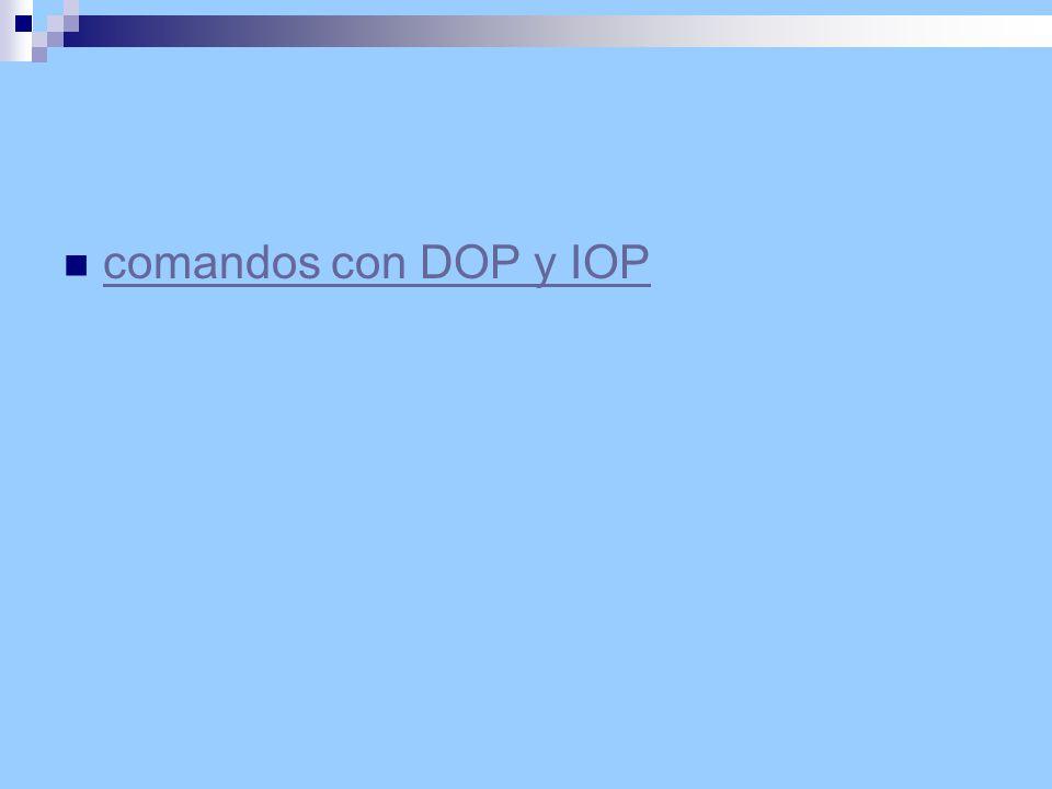 comandos con DOP y IOP