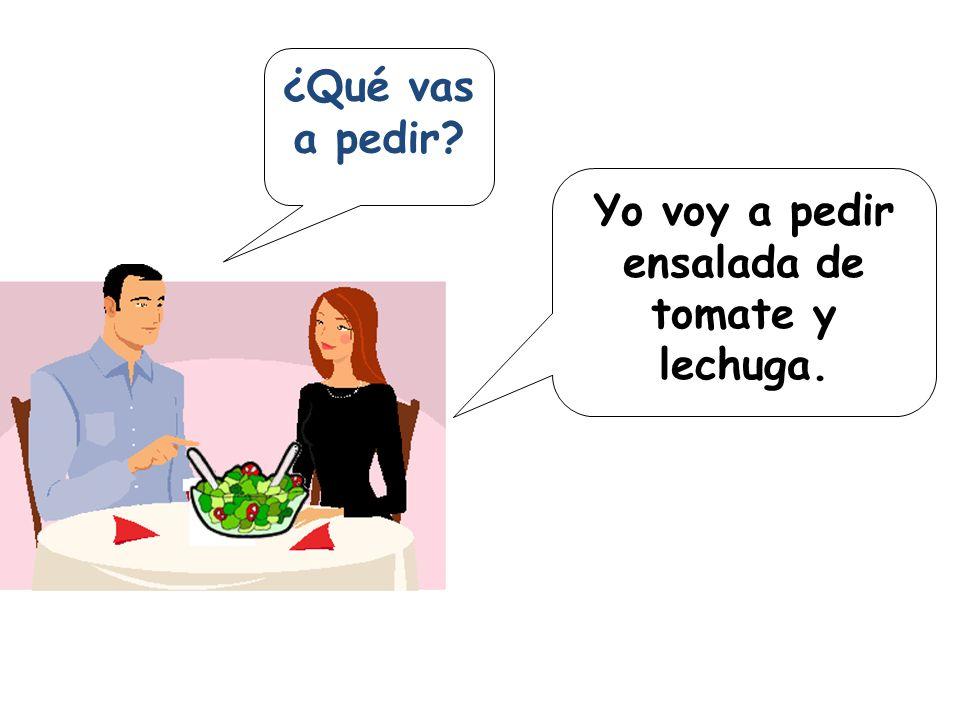 pedir = to ask for/order e i yonosotros tútúvosotros él ella Ud. ellos ellas uds. pido pides pide pedimos piden pedís