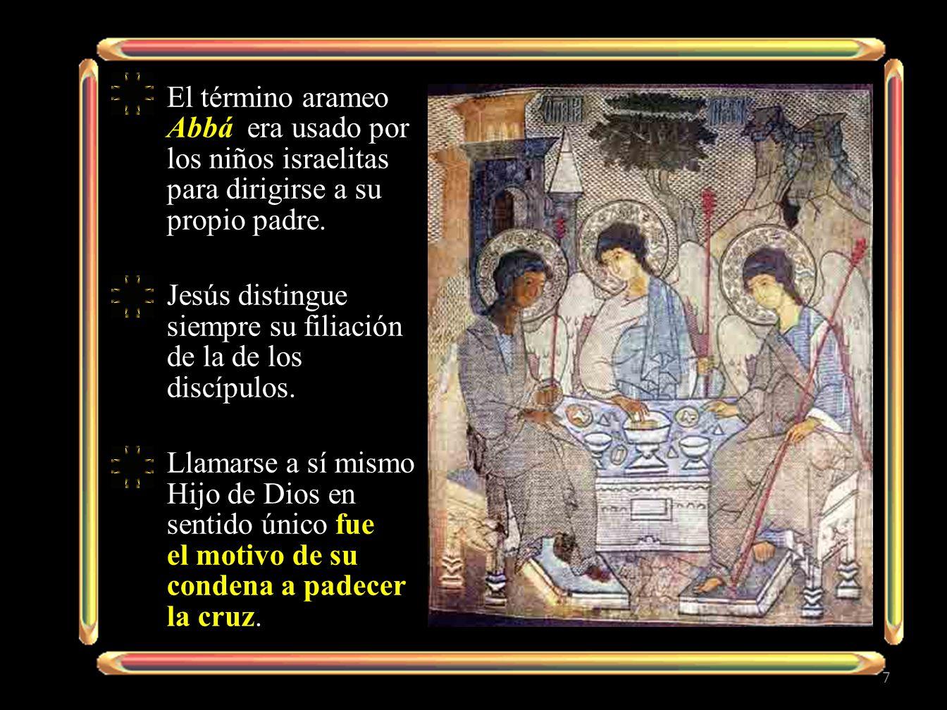 El término arameo Abbá era usado por los niños israelitas para dirigirse a su propio padre.