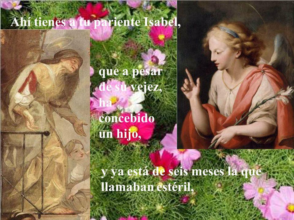 El ángel le contestó: El Espíritu Santo vendrá sobre ti, y la fuerza del Altísimo te cubrirá con su sombra; por eso el Santo que va a nacer se llamará