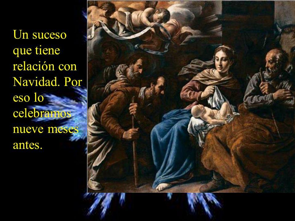María contestó: Aquí está la esclava del Señor;