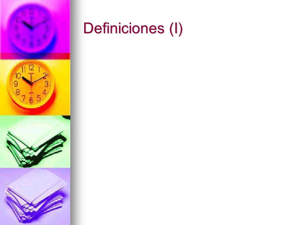 Definiciones (I)