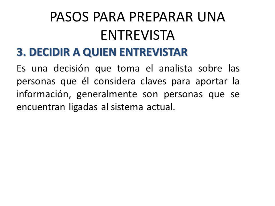 PASOS PARA PREPARAR UNA ENTREVISTA 3.