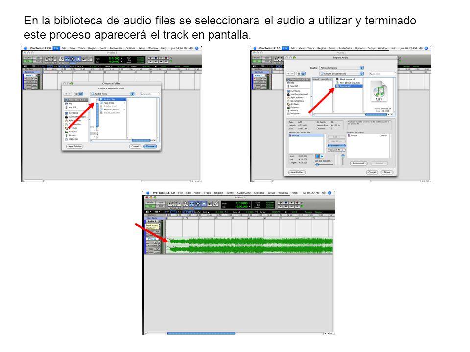 Teniendo nuestro track en el canal de audio, procederemos a seleccionar el lugar en donde queremos dividir el track : Y apretando los comandos @+e se dividirán el track.