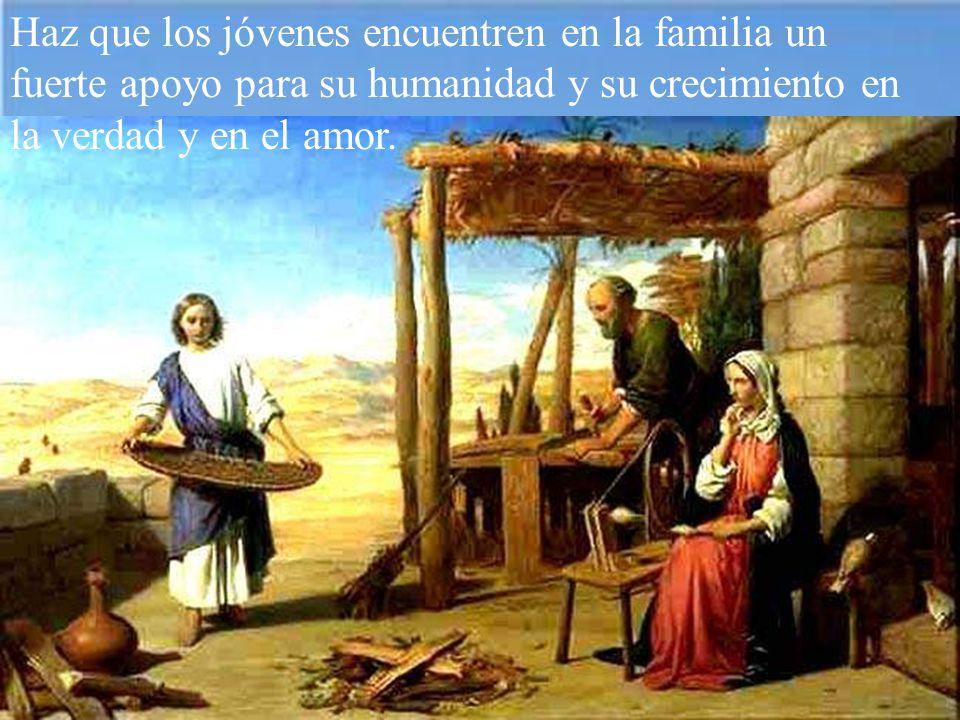 Haz que tu gracia guíe los pensamientos y las obras de los esposos hacia el bien de sus familias y de todas las familias del mundo.