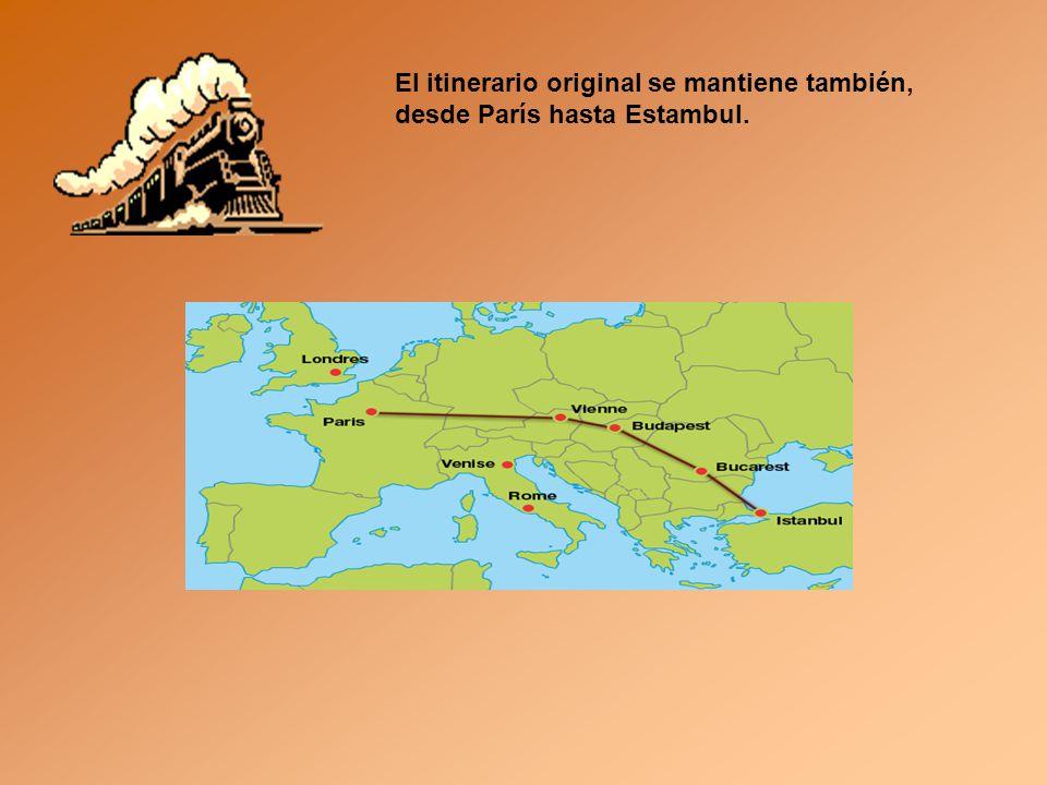 La compañía propone Varios itinerarios, desde Londres hasta Estambul o Roma pasando por Praga, la ciudad de los cien recorridos, por Viena la imperial