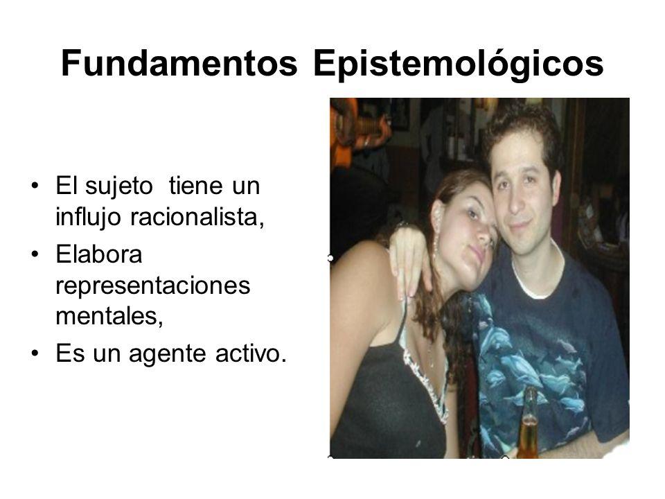 Fundamentos Epistemológicos El sujeto tiene un influjo racionalista, Elabora representaciones mentales, Es un agente activo.