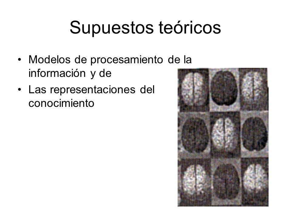 Supuestos teóricos Modelos de procesamiento de la información y de Las representaciones del conocimiento