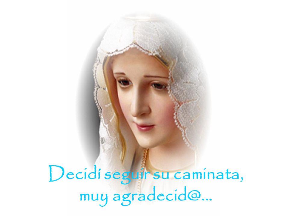 María visitó mi casa, mi ambiente de trabajo, doy gracias a DIOS.