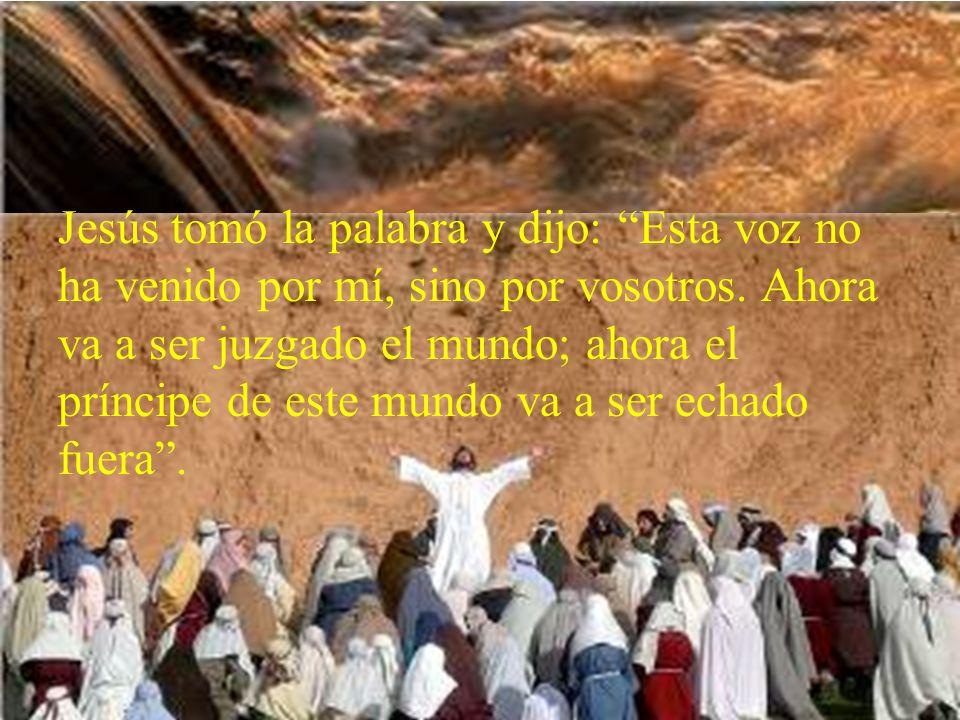 La gente que estaba allí y lo oyó decía que había sido un trueno; otros decían que le había hablado un ángel.