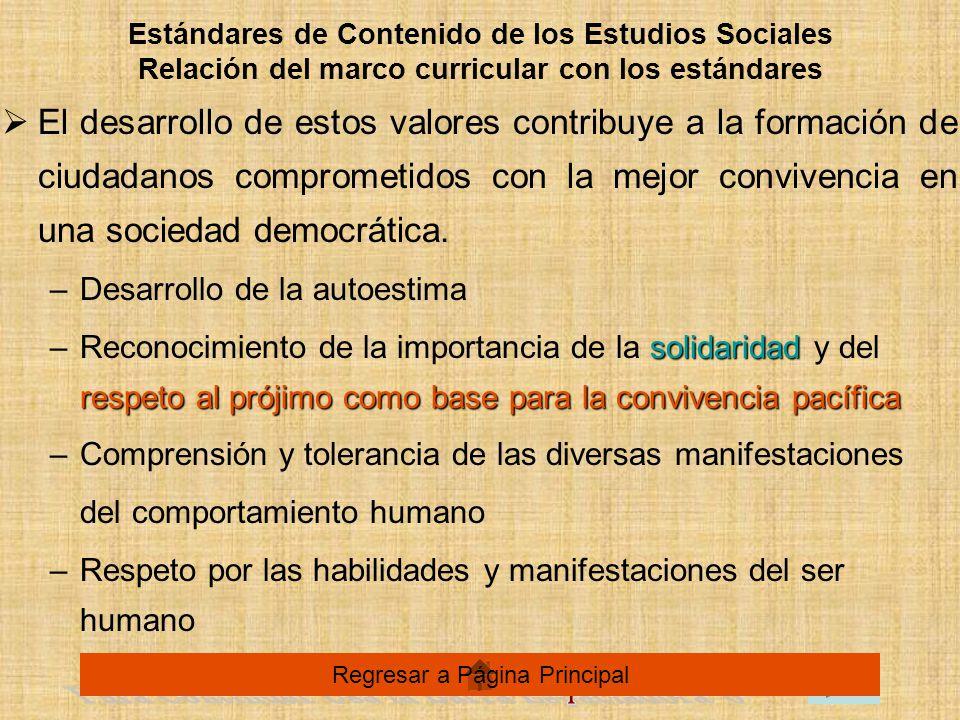 El desarrollo de estos valores contribuye a la formación de ciudadanos comprometidos con la mejor convivencia en una sociedad democrática.