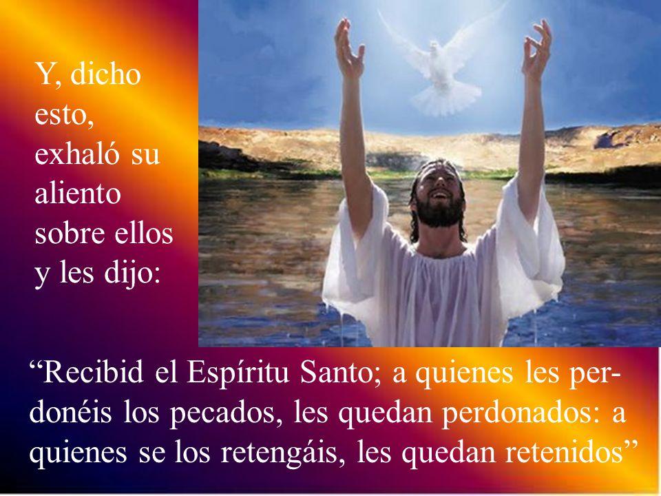Jesús repitió: Paz a vosotros. Como el Padre me ha enviado así también os envío yo.