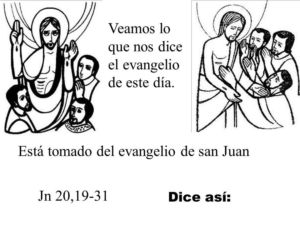 Este domingo también se llama Un domingo 2º de Pascua se apareció Jesús de la misericordia a santa Faustina. Desde el año 2000 el papa Juan Pablo II q