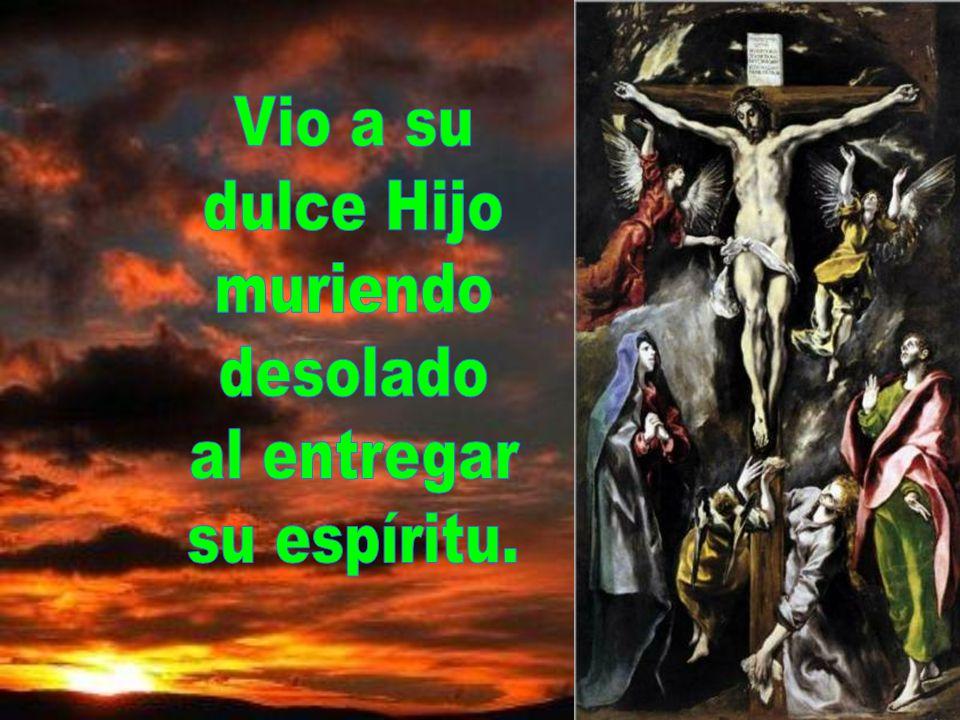 Por los pecados de su gente vio a Jesús en los tormentos y doblegado por los azotes.