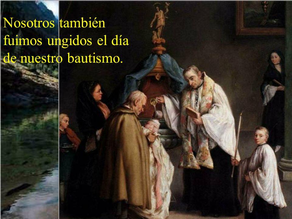 Esta unción del Espíritu marcará a Jesús para siempre, pues será el UNGIDO. Toda su vida sería como un bautismo, un olvidarse de sus privile- gios par