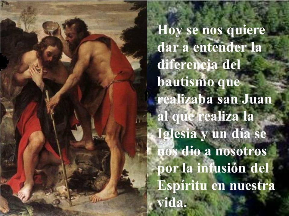 La manifestación fue a san Juan. Por medio de él lo sería para sus discípulos y luego para todos nosotros.