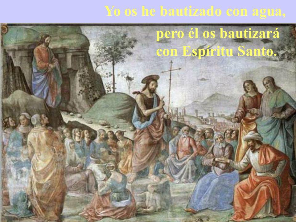 En aquel tiempo, proclamaba Juan: Detrás de mí viene el que puede más que yo, y yo no merezco agacharme para desatarle las sandalias.