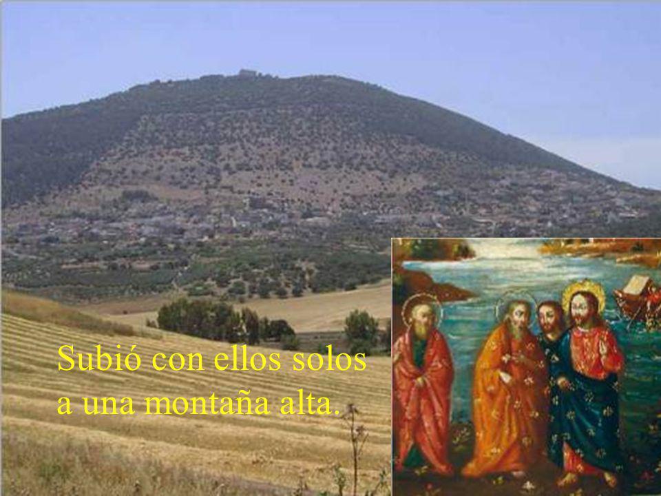 En aquel tiempo, Jesús se llevó a Pedro, a Santiago y a Juan,