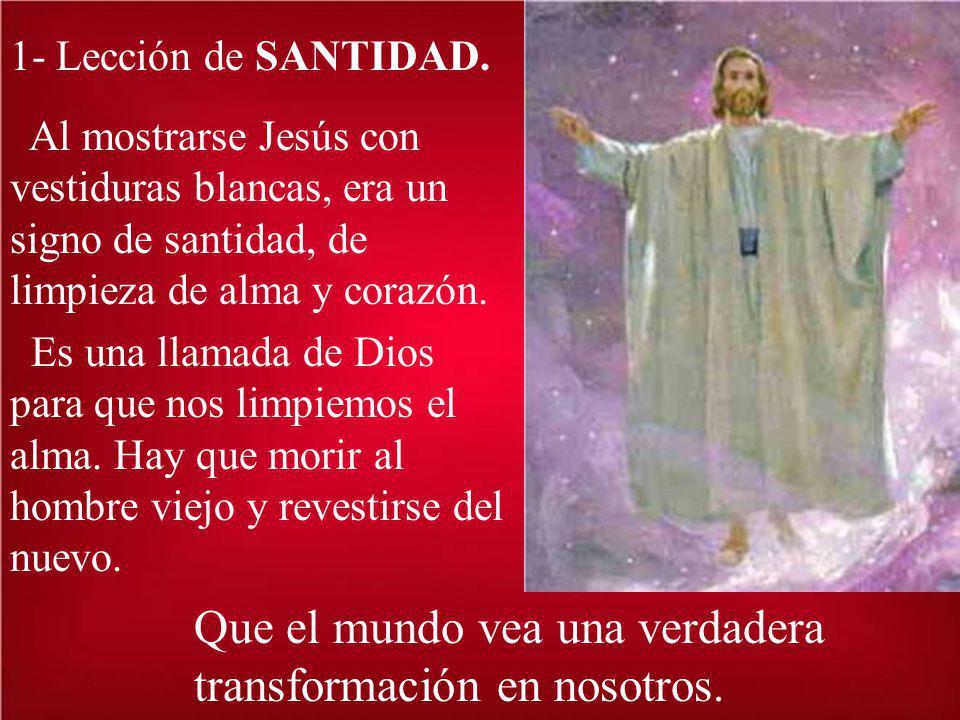 Entre las muchas enseñanzas que podemos sacar de la Transfiguración, vamos a fijarnos en tres.