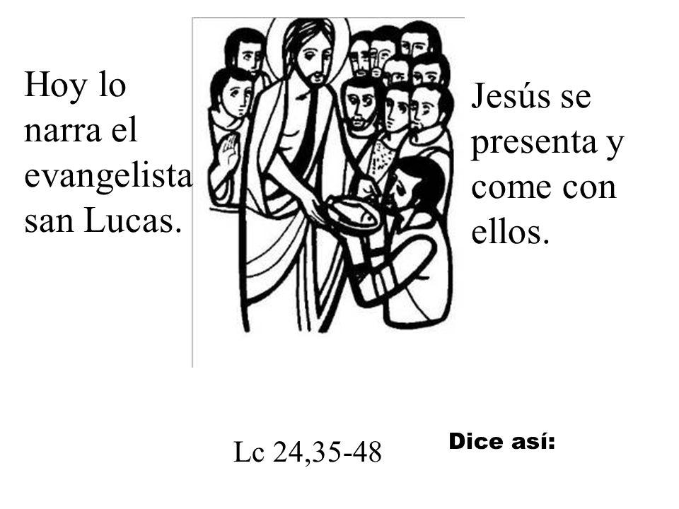 Jesús se presentó ante sus apóstoles el mismo día de la resurrección.