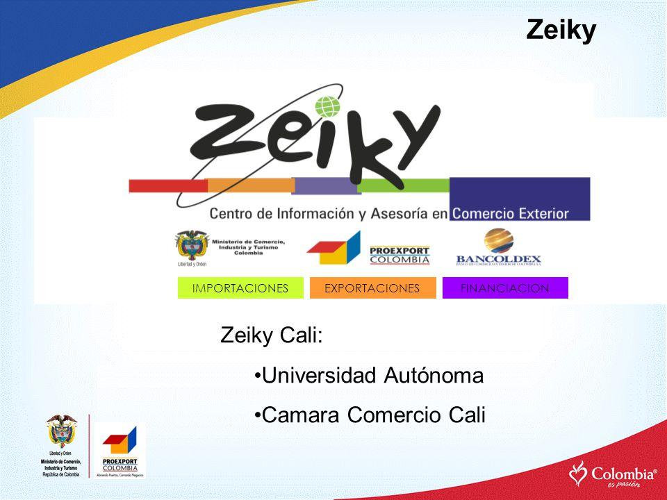 Zeiky IMPORTACIONESEXPORTACIONESFINANCIACION Zeiky Cali: Universidad Autónoma Camara Comercio Cali