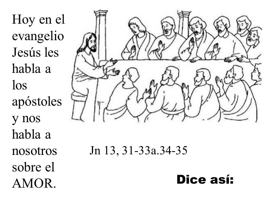 Hoy en el evangelio Jesús les habla a los apóstoles y nos habla a nosotros sobre el AMOR.