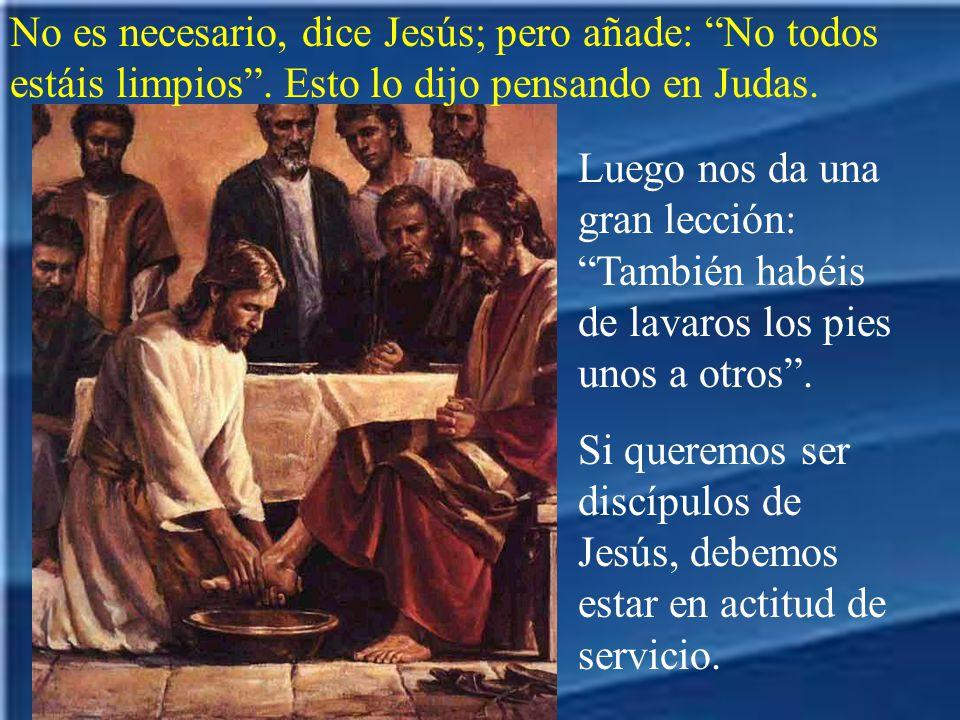 Entonces Pedro le dice: Señor, no sólo los pies, sino también las manos y la cabeza.