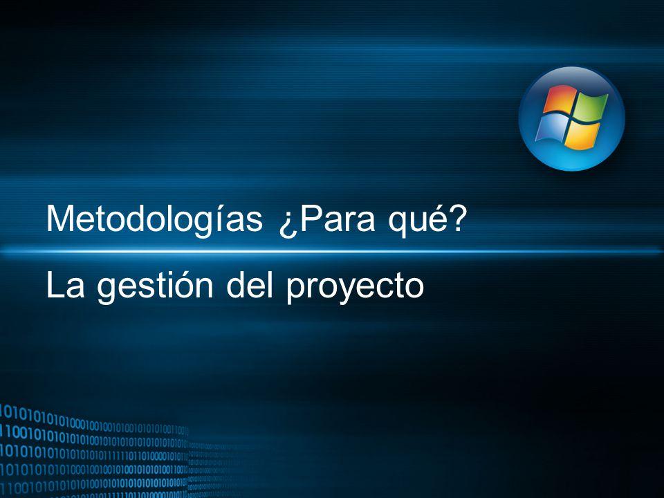 Metodologías ¿Para qué? La gestión del proyecto