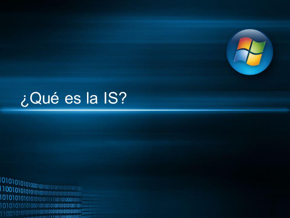 ¿Qué es la IS?