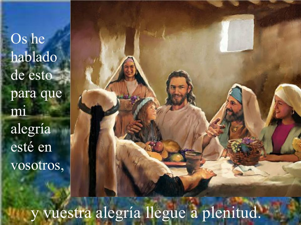 Si guardáis mis manda- mientos, permaneceréis en mi amor; lo mismo que yo he guardado los manda- mientos de mi Padre y permanezco en su amor.