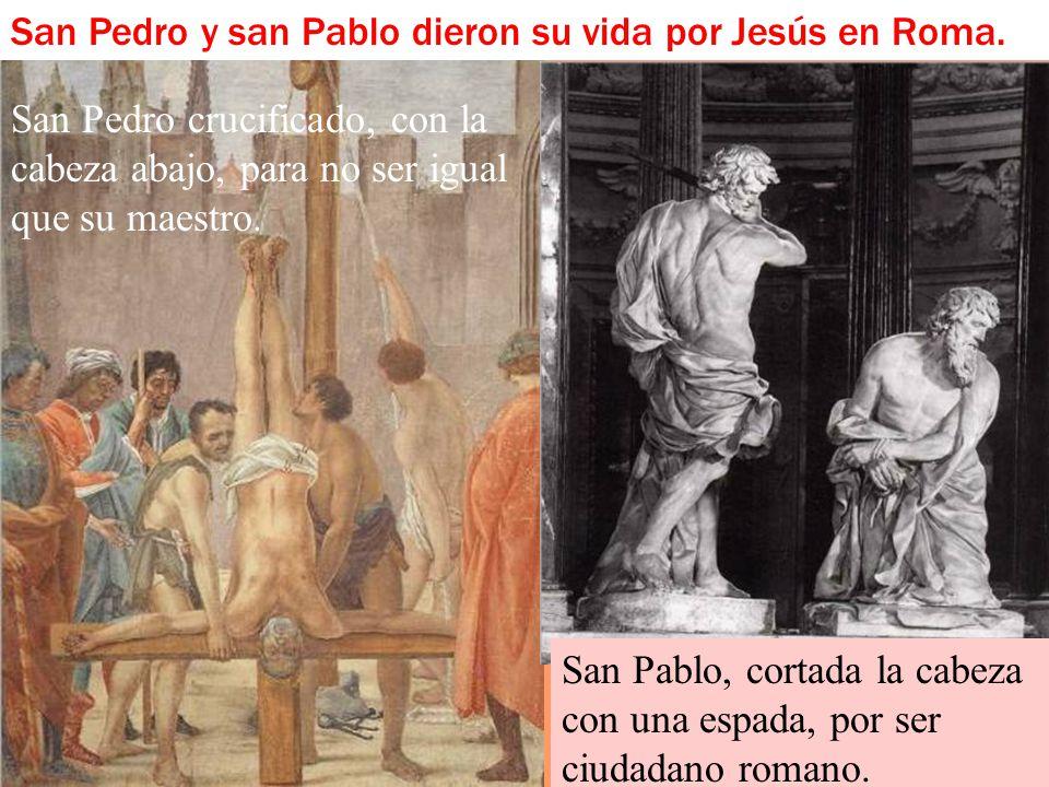 Un día san Pablo, llamado al apostolado, elegido para predicar el evangelio de Dios, como les dirá a los romanos, es llevado a Roma. Va preso y encade