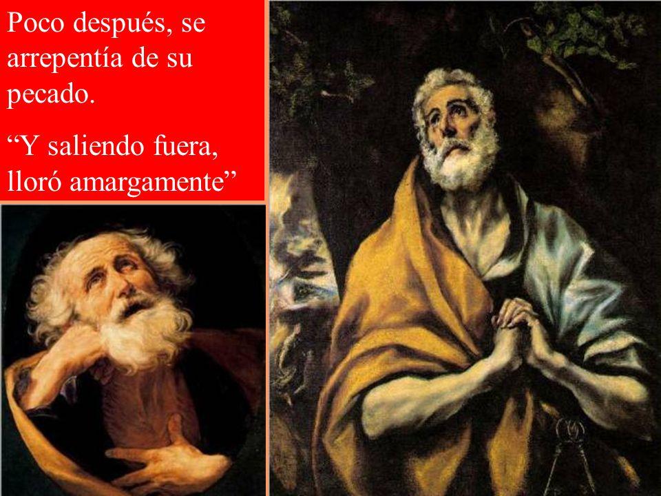 En la noche del Jueves Santo, Pedro fue cobarde negando a su maestro. Ante una criada y otras personas declaró, con juramento, que no conocía a Jesús.