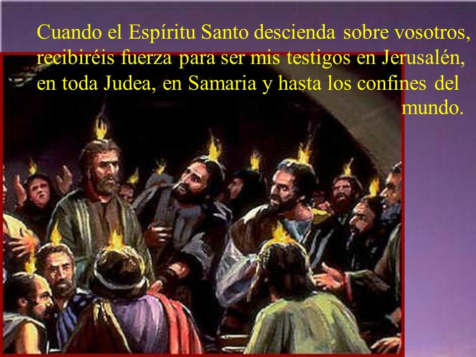 Sin dejar el cielo, se presentaba a los apóstoles reafirmando su fe y su amor durante cuarenta días.