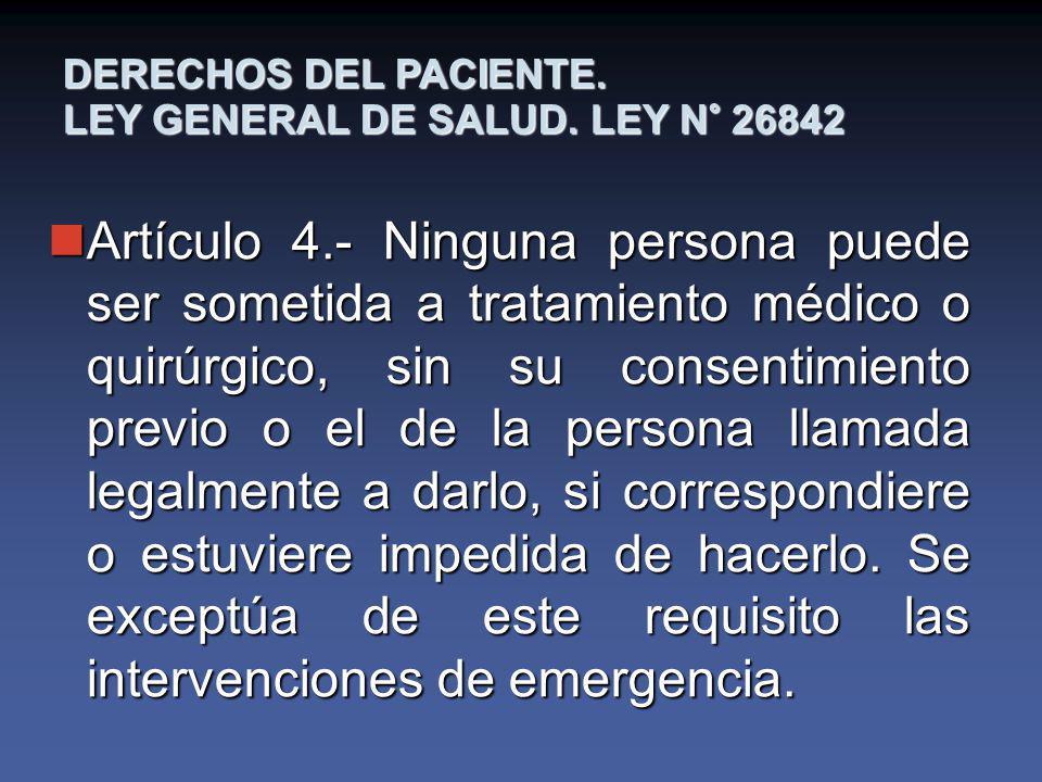 DERECHOS DEL PACIENTE.LEY GENERAL DE SALUD.
