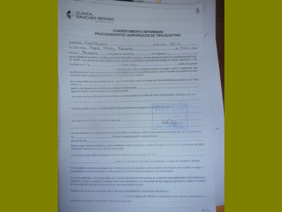 PREGUNTA 01: ¿EL PACIENTE PUEDE RETRACTARSE DEL CONSENTIMIENTO INFORMADO DADO EN CUALQUIER MOMENTO.