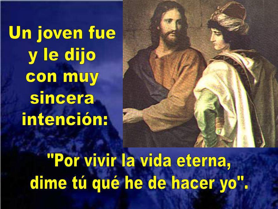 Hoy en el evangelio se habla sobre la llamada de Jesús a un joven rico. Mc 10, 17-30 Automático Y canta así: