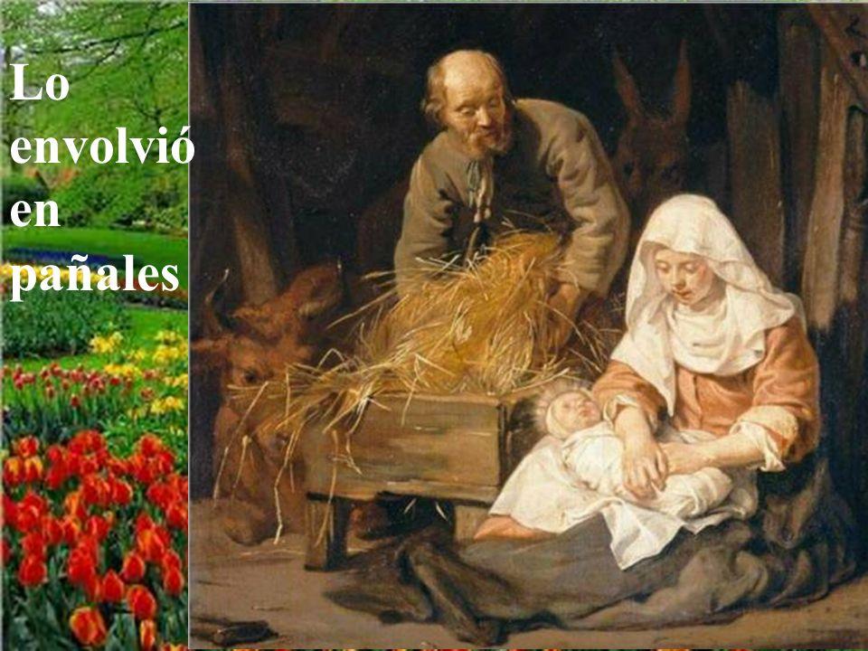 Y mientras estaban allí le llegó el tiempo del parto y dio a luz a su hijo primogénito.